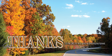 Church Banner featuring Trees in Fall with Thanksgiving Theme