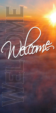 Church Banner featuring Sunrise for Welcome Center Banner