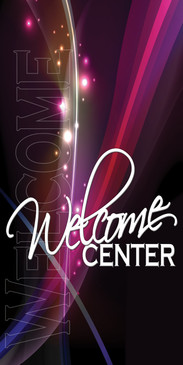 Church Banner featuring Artistic Design for Welcome Center Banner