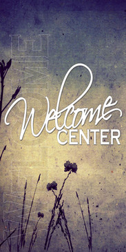 Church Banner featuring Grunge Colors for Welcome Center Banner