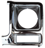1979-1980 Chevrolet and GMC headlight door, chrome and dark argent, driver's side