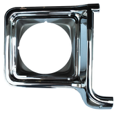 1973-1978 Chevrolet and GMC headlight door, chrome and dark argent, passenger's side