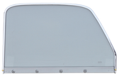 1947-1950 Chevrolet and GMC 1st Series truck door window glass assembly (Clear) with chrome trim, passenger's side