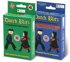This fast paced card game is a must for game night. Be the first to get rid of your blitz pile by placing them in the centre Dutch piles in sequence and by appropriate color. But be careful players don't take turns.  2-4     8+