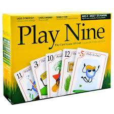 After the 9th hole the player with the lowest score wins. With the combination of strategy and luck of the draw, Play Nine is the ultimate card game of golf.  2-6 players     8+     20 -60 min