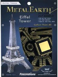 Eiffel Tower metal earth puzzle