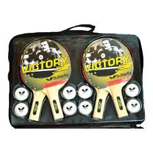 includes 4 quality rackets with 6, 3 star balls