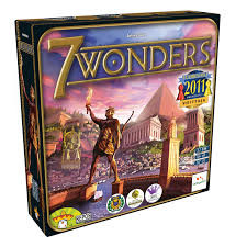 You are the leader of one of the 7 great cities of the ancient world. Gather resources, develop commercial routes, and affirm your military supremacy. Build your city and erect an architectural wonder which will transcend future times.  2-7 players     10+     30 min