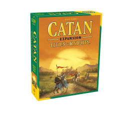 This is an expansion to the game Catan, adding several new aspects. Now players can create knights to protect the land from invading barbarians.  3-4 players     12+     90-120 min