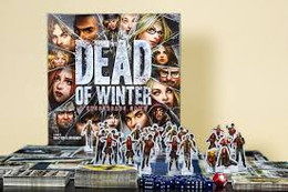 The first game in this series puts players together in a small, weakened colony of survivors in a world where most of humanity is either dead or deseased, flesh-craving monsters. Each player leads a faction of survivors with dozens of different characters in the game. It is a meta-cooperative game meaning players are working together toward one common victory condition- but for each individual player to achieve victory, he must also complete his own personal objective.  2-5 players     14+     45-210 min