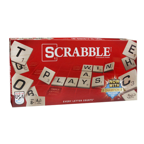 A classic word game. Players try and score as many points by forming words from their 7 letter tiles in their hand and strategically placing them on the board.  2-4 players     10+     90 min