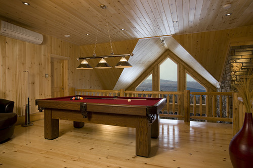 The Special Anniversary billiard table has contemporary style and is one of our most popular pool tables.  Solidly built with white birch rails and steel leg levelers to maintain optimal level. It is available in 3 finishes: Midnight Stroll, Chocolate Pear Tree and Passion as well as 3 sizes:  31/2'x7', 4'x8' and 41/2'x9'.