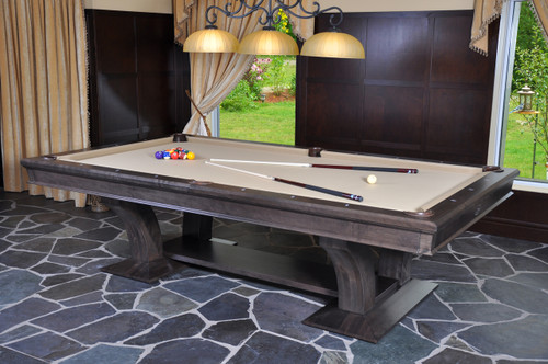 La Condo Divine billiard tables showcase bold, curved features with clean lines and unique foundation.  This pool table offers a contemporary look with exceptional Canada Billiards quality and playability you're sure to appreciate.