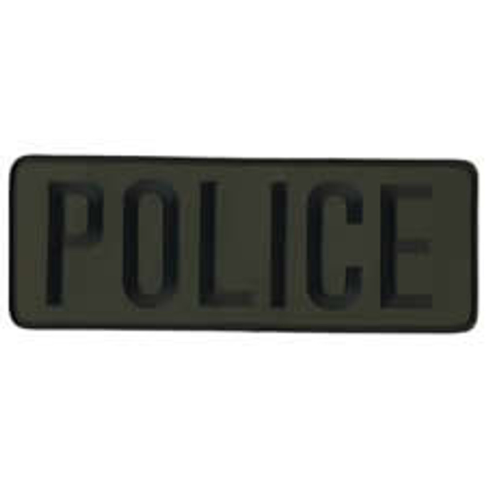 "Police Back Patch 9x3"" RG"