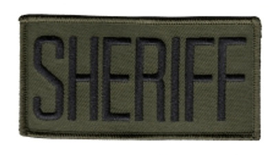 """Sheriff Front Patch 4x2"""""""