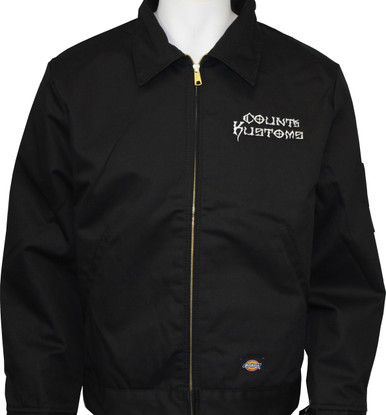 Embroidered work jacket black seven clothing company for Embroidered work shirts no minimum order