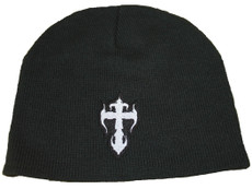 Beanie - Black with White Kross