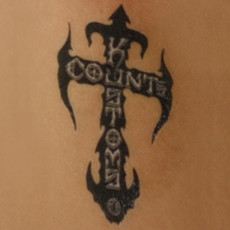 Count's Kross Temporary Tattoo - Black