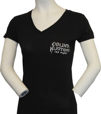 Women's Slim Fit Kross Tee - Black