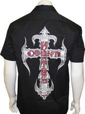 Screen Print Work Shirt - Black