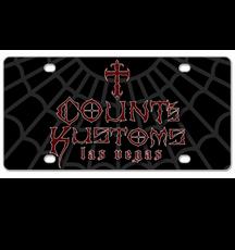 License Plate - Black Logo