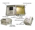Enclosure 14x12x7 w/ 120VAC, FAN, Thermostat. FRP NEMA.  Mounting Plate