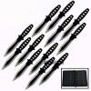 "12 Pc 6"" Ninja Tactical Combat Naruto Kunai Throwing Knife w/ Sheath Hunting Set"