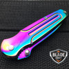 "6.5"" TITANIUM RAINBOW TACTICAL SPRING ASSISTED OPEN FOLDING POCKET"
