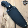 "11"" CSGO BLACK TACTICAL FULL TANG HUNTSMAN HUNTING KNIFE"