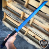 "27"" FULL TANG NINJA MACHETE KATANA SWORD ZOMBIE TACTICAL SURVIVAL KNIFE Blue"