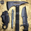 4PC Black Tactical Hunting Combat Set