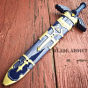 "11"" Legend of Zelda Hylian Hyrule Ocarina of Time Master Sword Short Dagger Blue"