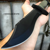 "12"" CSGO Hunting Military Survival Combat Fixed Blade BOWIE Knife w/ Sheath Green"