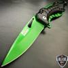 "8"" MTECH GREEN TITANIUM SPRING ASSISTED OPEN Tactical POCKET KNIFE Bottle Opener"