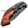 "9"" MTECH HARDWOOD STEAMPUNK WOOD SPRING ASSISTED POCKET KNIFE"
