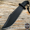 "13"" MTECH BLACK TACTICAL SURVIVAL Rambo Hunting FIXED BLADE KNIFE Army Bowie Tool -U"