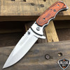 "7"" TAC FORCE WOOD Tactical Spring Assisted Open FOLDING BLADE Pocket Knife NEW"