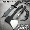 4PC Black Tactical Hunting Set - Flash Sale Special