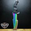 CSGO HUNTSMAN FIXED BLADE HUNTING KNIFE RAINBOW
