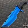 "11"" CSGO BLUE TITATINUM HUNTSMAN FIXED BLADE"
