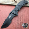 "9"" MTECH BLACK TACTICAL SPRING ASSISTED POCKET KNIFE"