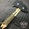 "10"" SURVIVAL TOMAHAWK TACTICAL THROWING AXE w SHEATH BATTLE Hatchet Knife Bronze"