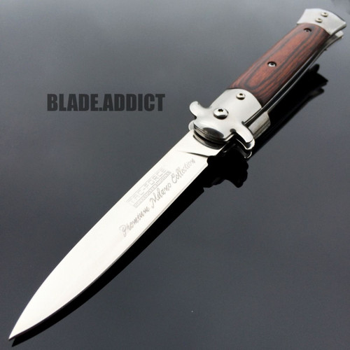 "9"" TAC FORCE Italian Milano Stiletto Tactical Spring Assisted Open Pocket Knife1"