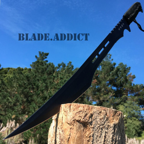 "27"" Black Ninja Full Tang Sword Zombie Killer Katana"