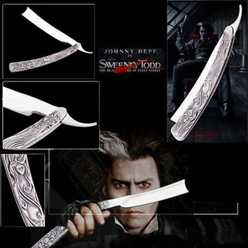 "10.5"" Sweeney Todd Straight Blade Barber Razor Pocket Knife Shaving Cut Throat"