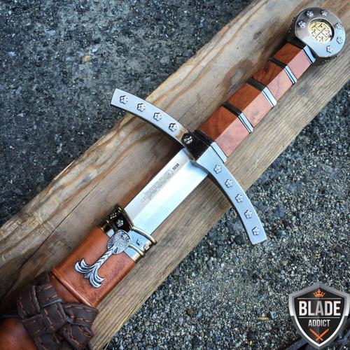 "23"" Fantasy King Arthur Excalibur Medieval Crusader Sword Scabbard"
