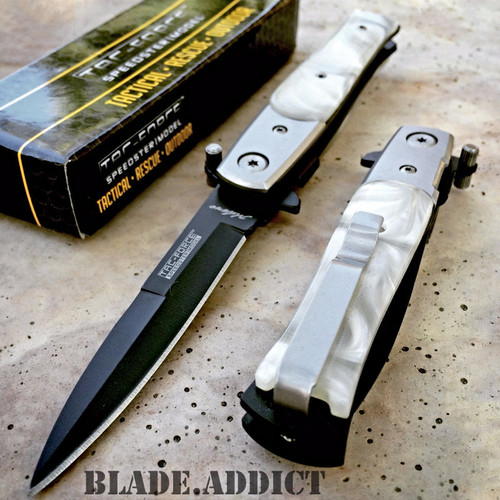 TAC FORCE MILANO STILETTO Tactical Spring Assisted Open Folding Pocket Knife NEW
