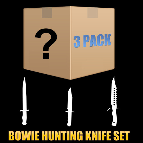 Mystery Pack - 3 Piece Set - Random Bowie / Hunting knife / Machete