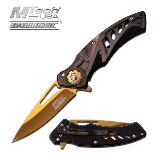 MTECH Gold TACTICAL Spring Assisted Open Pocket Knife