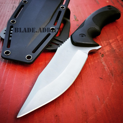 "9"" TACTICAL SURVIVAL KNIFE Hunting MILITARY BOWIE Fixed Blade Rambo Army Boot"